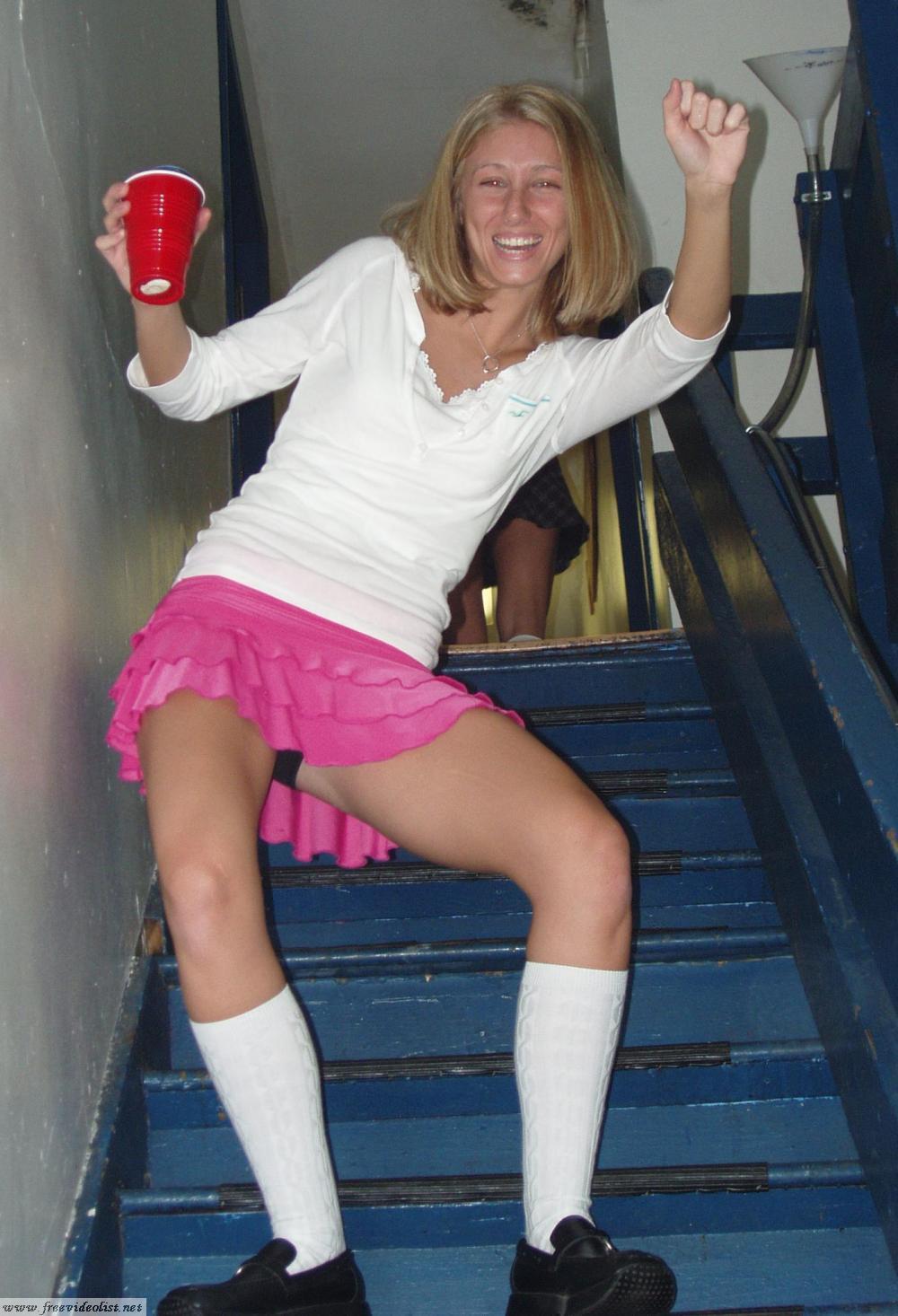 Bailando en la escalera