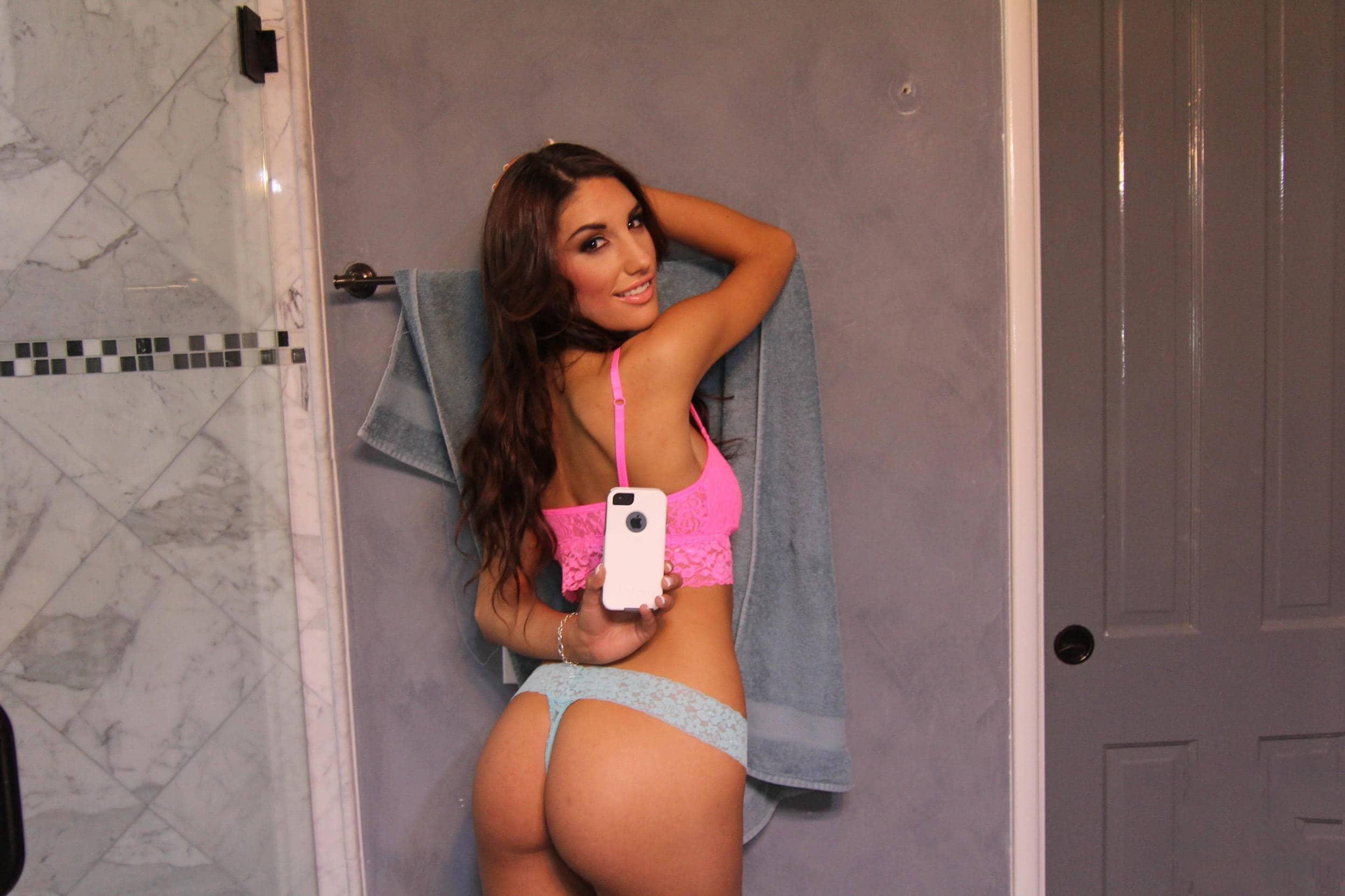 Una selfie de ella y de su cola