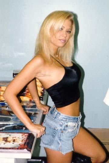 Jenna Jameson en ropa de entre casa