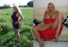 Una madura voluptuosa y desnuda